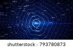 block chain network concept  ... | Shutterstock . vector #793780873