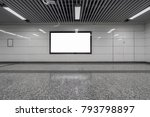 blank billboard in metro station | Shutterstock . vector #793798897
