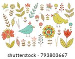vintage set for your design... | Shutterstock .eps vector #793803667