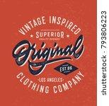 original vintage textured hand... | Shutterstock .eps vector #793806223