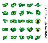brazil flag  vector illustration | Shutterstock .eps vector #793812517