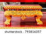 beautiful arch of the temple... | Shutterstock . vector #793816357