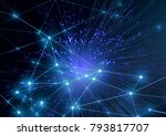 illustration on digital network ... | Shutterstock . vector #793817707