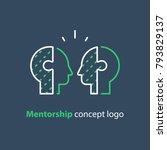 mentorship concept  mentoring... | Shutterstock .eps vector #793829137