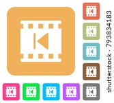 previous movie flat icons on... | Shutterstock .eps vector #793834183