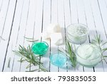 cosmetic cream product samples... | Shutterstock . vector #793835053