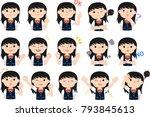 girl's honor student japanese... | Shutterstock .eps vector #793845613