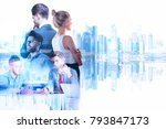 Businessman And Woman On...
