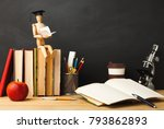 educational background. wooden