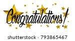 congratulations  beautiful... | Shutterstock .eps vector #793865467