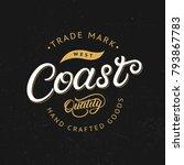 west coast hand written... | Shutterstock .eps vector #793867783