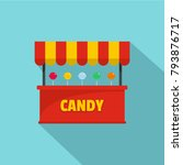 candy selling icon. flat... | Shutterstock .eps vector #793876717