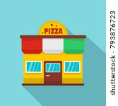 pizza shop icon. flat... | Shutterstock .eps vector #793876723