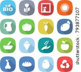 flat vector icon set   bio... | Shutterstock .eps vector #793877107