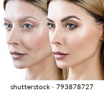 woman before and after... | Shutterstock . vector #793878727