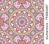hand drawn ornamental seamless... | Shutterstock .eps vector #793882687