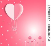valentines day on pink... | Shutterstock .eps vector #793886317