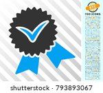 validation seal pictograph with ... | Shutterstock .eps vector #793893067