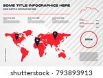 complex world map infographics... | Shutterstock .eps vector #793893913