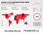 complex world map infographics... | Shutterstock .eps vector #793893913
