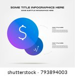 Bubble of icon infographics. Element of chart, graph, diagram with 2 options - parts, processes, timeline. Vector business template for presentation, workflow layout, annual report, web design | Shutterstock vector #793894003