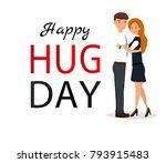 couple hug. flat vector...   Shutterstock .eps vector #793915483