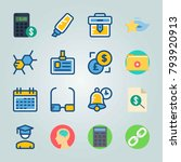 icon set about education and...   Shutterstock .eps vector #793920913