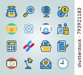 icon set about education and...   Shutterstock .eps vector #793921183