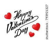 happy valentines day typography ... | Shutterstock .eps vector #793921327