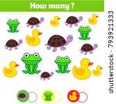 counting educational children... | Shutterstock .eps vector #793921333