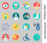 icons set about medical. with... | Shutterstock .eps vector #793927387