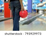 person bowling  rear view.... | Shutterstock . vector #793929973