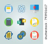 icon set about marketing. with... | Shutterstock .eps vector #793931617