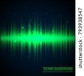 vector sound waves. audio... | Shutterstock .eps vector #793938547