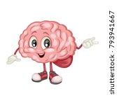 cute cartoon brain character...   Shutterstock .eps vector #793941667