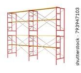 scaffolding metal construction... | Shutterstock . vector #793947103