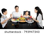 asian family holding hands to...   Shutterstock . vector #793947343