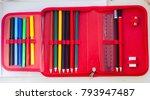 school pencil case | Shutterstock . vector #793947487