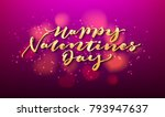 happy valentines day lettering... | Shutterstock .eps vector #793947637