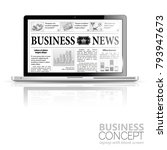 digital news concept with... | Shutterstock . vector #793947673