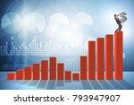 businessman carrying dollar... | Shutterstock . vector #793947907
