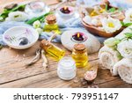 spring spa still life wellness... | Shutterstock . vector #793951147