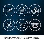 set of sales diagram  update... | Shutterstock .eps vector #793953007