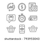 set of dollar target  payment... | Shutterstock .eps vector #793953043