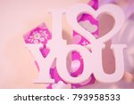 the concept of love  wedding ... | Shutterstock . vector #793958533