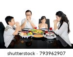 picture of christian family...   Shutterstock . vector #793962907