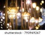 lightbulbs on ropes | Shutterstock . vector #793969267