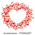 vector greeting card of many... | Shutterstock .eps vector #793981897