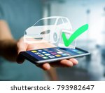 view of a verified car ready to ... | Shutterstock . vector #793982647
