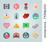 icon set about wedding. with... | Shutterstock .eps vector #793986103